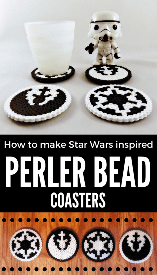 20 Fun Free Patterns for Perler Bead Crafts featured by top US craft blog, The Crafty Blog Stalker: Star Wars perler bead coasters.