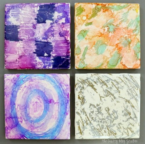 Sharpie Dyed Tile Coasters | DIY Craft Kit | Handmade Gift | Christmas | Gift Giving | hard to buy for | tweens | kids | Easy DIY Craft Tutorial Idea | #GiveColorfully #CollectiveBias #ad