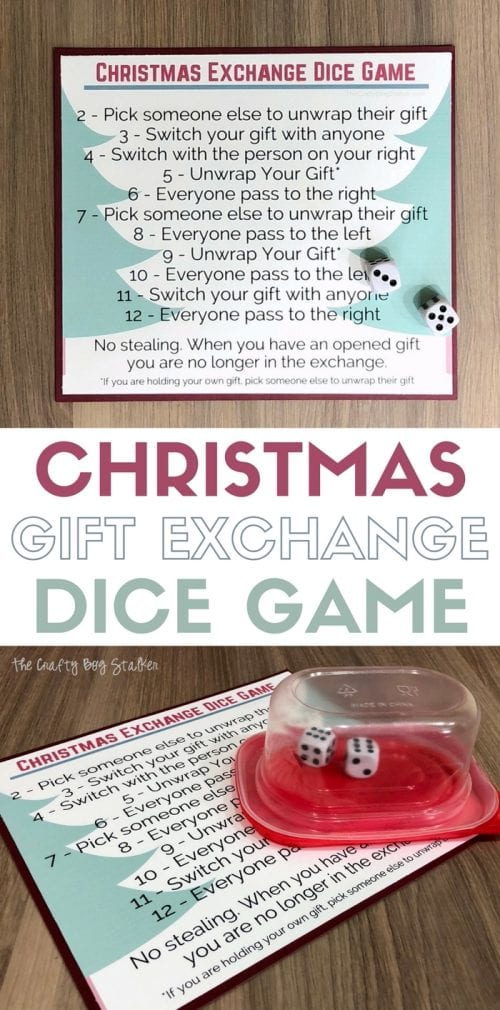 Christmas Gift Exchange Dice Game with Free Printable | Christmas Party | Holiday Parties | How to Play | Easy DIY Craft Tutorial Idea