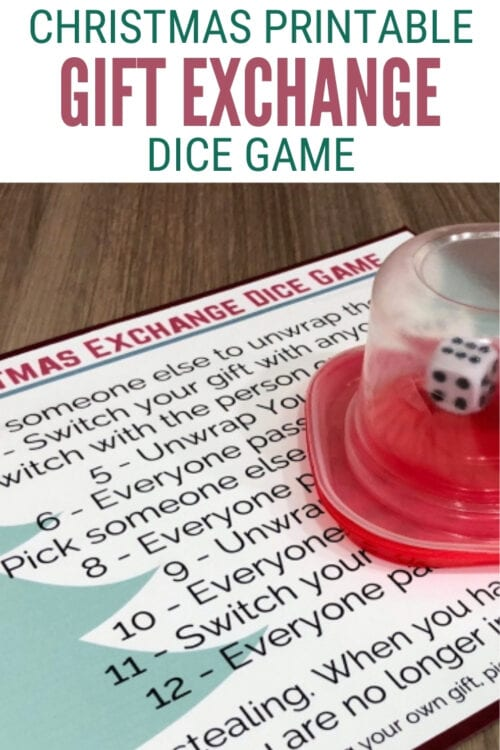 Christmas Gift Exchange Dice Game