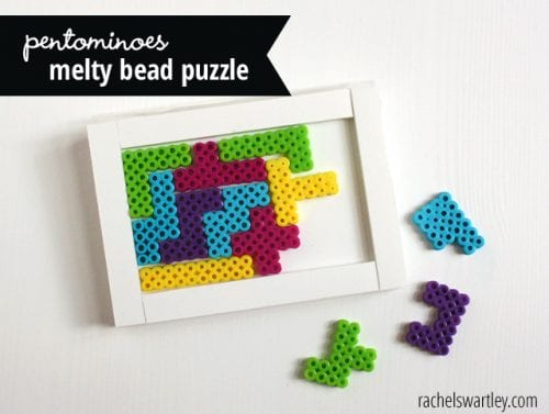 20 Fun Free Patterns for Perler Bead Crafts featured by top US craft blog, The Crafty Blog Stalker: perler bead puzzle.