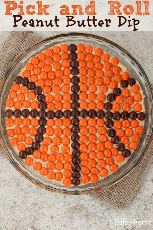 20 March Madness Party Ideas: Food, Games, and Decorations, featured by top US craft blog, The Crafty Blog Stalker: Pick and Roll Peanut Butter Dip