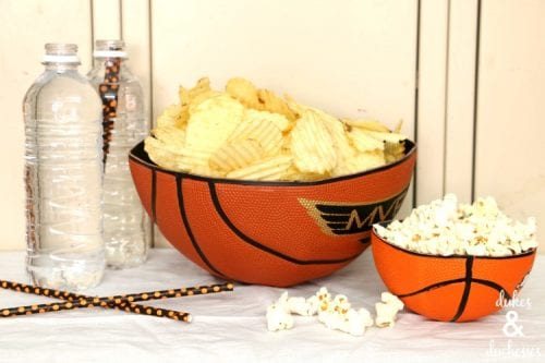 20 March Madness Party Ideas: Food, Games, and Decorations, featured by top US craft blog, The Crafty Blog Stalker: Repurposed Basketball Bowls