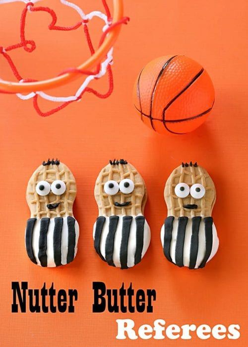 20 March Madness Party Ideas: Food, Games, and Decorations, featured by top US craft blog, The Crafty Blog Stalker: Nutter Butter Referees