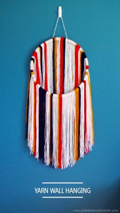 Circular Yarn Wall Hanging