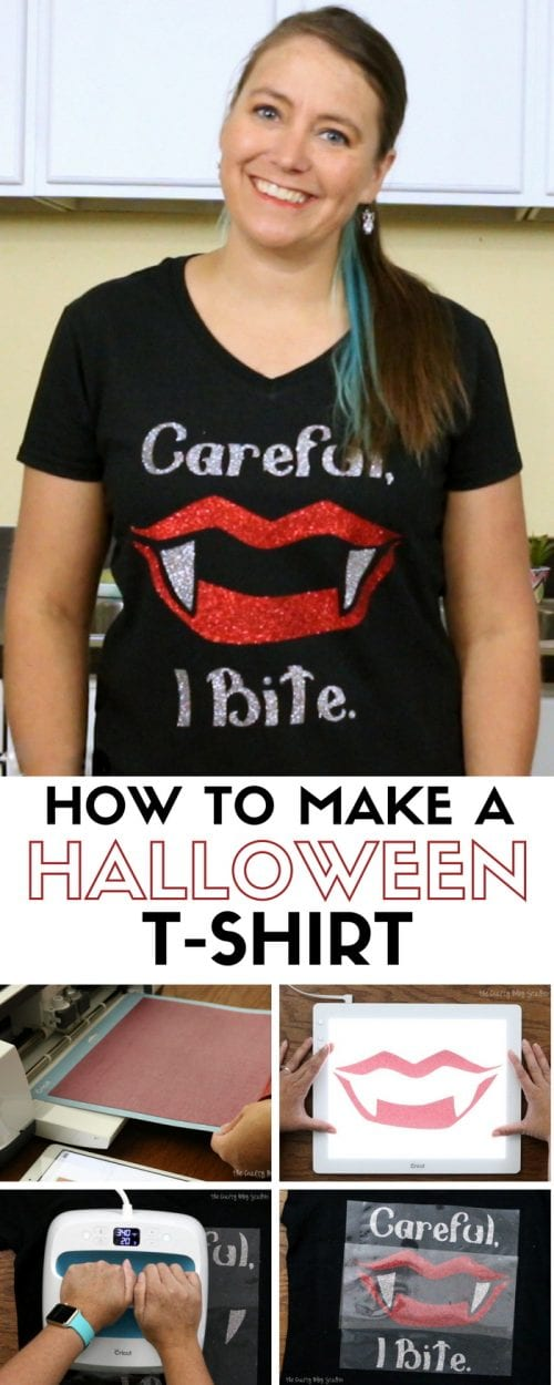 How to Make a Halloween Shirt with Glitter Iron-on and the Cricut Maker | Vampire | Heat Transfer Vinyl | women | funny sayings | Easy DIY Craft Tutorial Idea