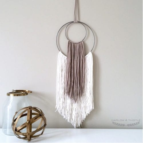 20 Yarn Wall Hangings Crafts | Easy DIY Craft Tutorial Ideas for Home Inexpensive Home Decor | macrame | woven | bedroom | living room
