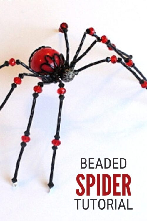 title image for How to Make a Beaded Spider Tutorial