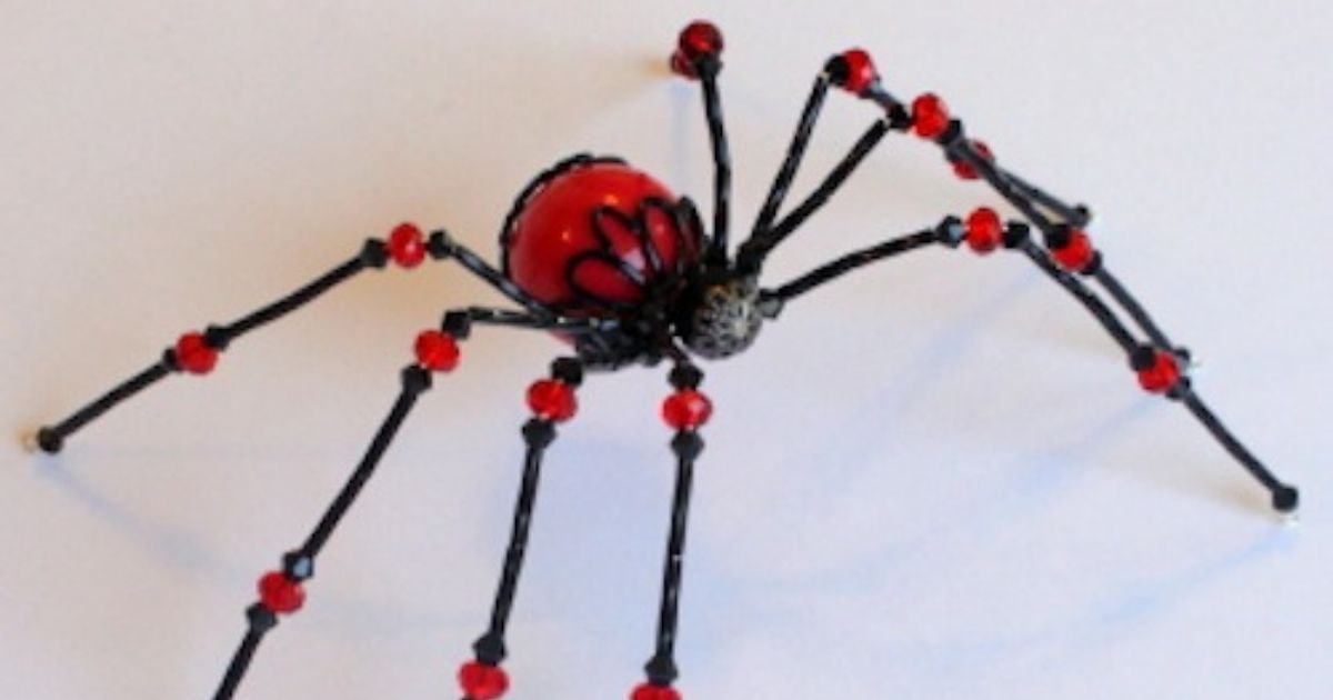 picture regarding Legend of the Christmas Spider Printable named How toward Produce a Beaded Spider The Cunning Web site Stalker