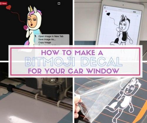 How to Make a Bitmoji Decal for your Car Window | Easy DIY Craft Tutorial Idea | Stickers | Avatar | Cricut | Cricut Maker | Cricut Explore Air 2 | Vinyl | transfer Tape |