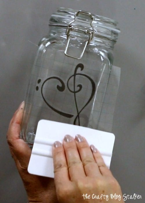 How to Make a Heart Music Clef Candy Jar | Cricut | Vinyl | Handmade Gift | Cricut Explore Air 2 | Treble Clef | Bass Clef | Music Lovers | Easy DIY Craft Tutorial Idea