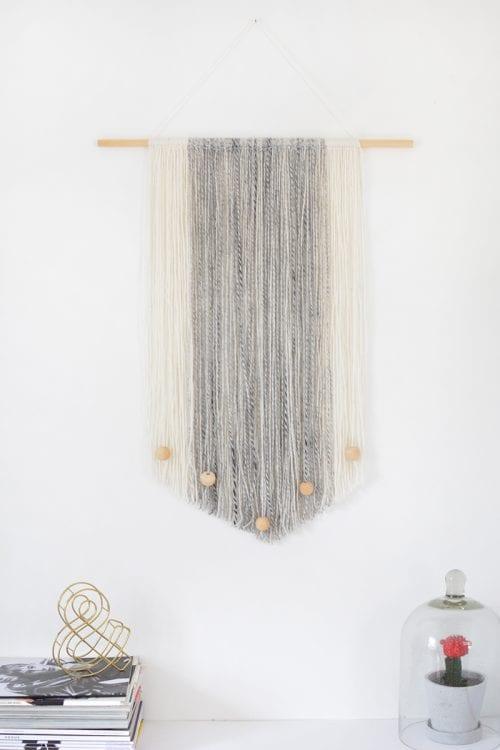 DIY Yarn Wall Hanging