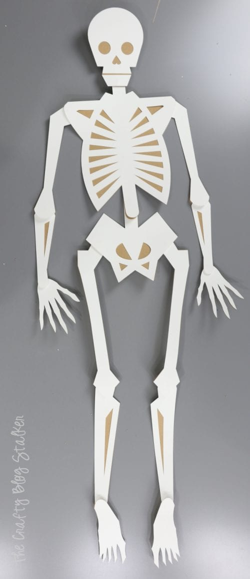 How to Make a 41-inch Large Skeleton with the Cricut Maker, a tutorial featured by top US craft blog, The Crafty Blog Stalker.