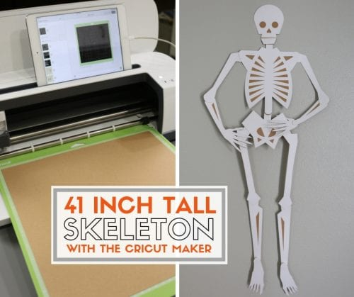 How to Make a 41-inch Large Skeleton with the Cricut Maker