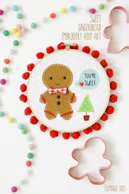 20 Holiday Embroidery Hoop Art Ideas featured by top US craft blog, The Crafty Blog Stalker.