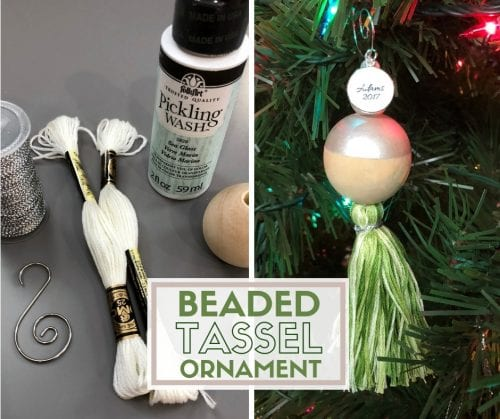 How to Make a Beaded Tassel Ornament | Easy DIY Craft Tutorial Idea | Christmas Ornament | Handmade | Holidays | Unique
