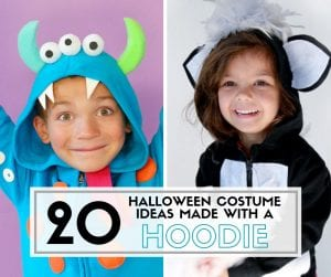 20 Halloween Costume Ideas for Kids made with a Hoodie