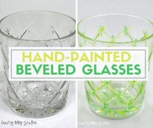 How to Make Hand-Painted Beveled Glasses | Easy DIY Craft Tutorial Idea | glass paint | home decor | designs