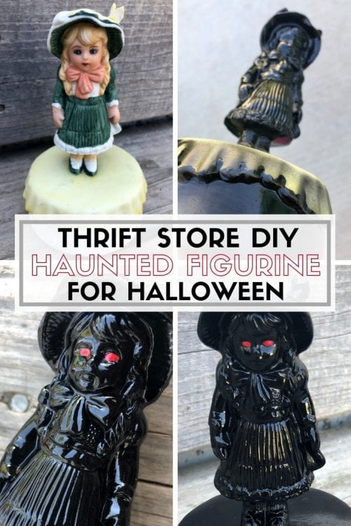 How to Make a Haunted Figurine for Halloween Decor | Thrift Store DIY | Easy DIY Craft Tutorial Idea | Porcelain | Creepy | Spooky | Paint | Eyes