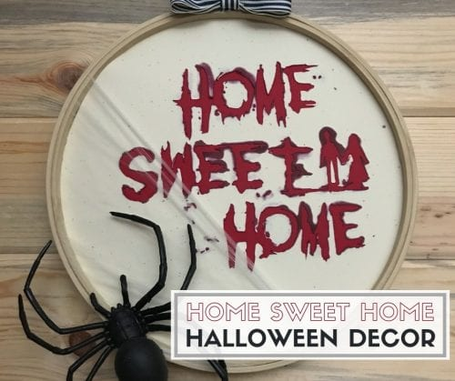 How to Make a Scary Home Sweet Home Halloween Decoration