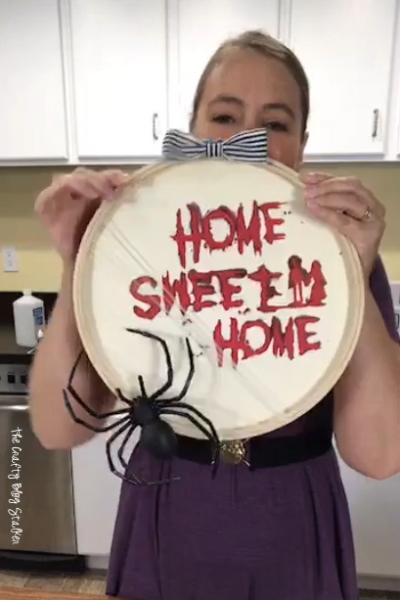 How to Make a Scary Home Sweet Home Halloween Decoration | Easy DIY Craft Tutorial Idea | Cricut Maker | Cricut Design Space | Cricut Explore | Scary | Spider | Decor | Bloody