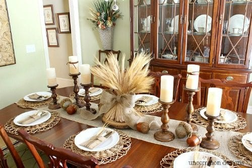 20 Decorating Ideas for the Thanksgiving Dinner Table featured by top US craft blog, The Crafty Blog Stalker
