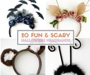 20 Fun and Scary Halloween Headband Tutorials | Easy DIY Craft Tutorial Idea | Handmade | Halloween Costume | Headpieces | Fun and Scary | for Kids | For Adults