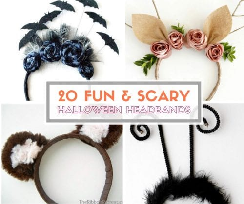 20 Fun and Scary Halloween Headband Tutorials | Easy DIY Craft Tutorial Idea | Handmade | Halloween Costume | Headpieces | Fun and Scary | for Kids | For Adults