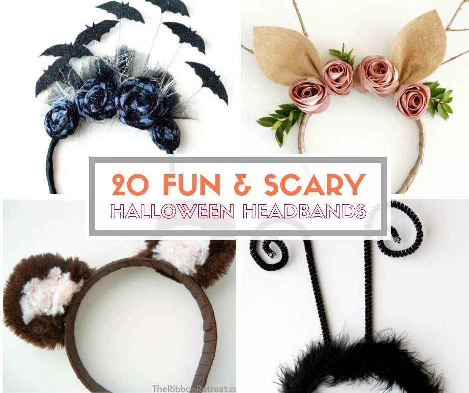 20 fun and scary halloween headband tutorials the crafty blog stalker