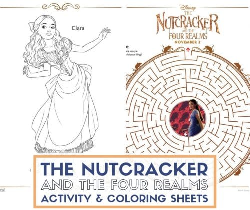 The Nutcracker and The Four Realms | Printable Coloring and Activity Sheets | Easy DIY Craft Tutorial Idea | Kid Activity | Free Printable | Freebies | Disney