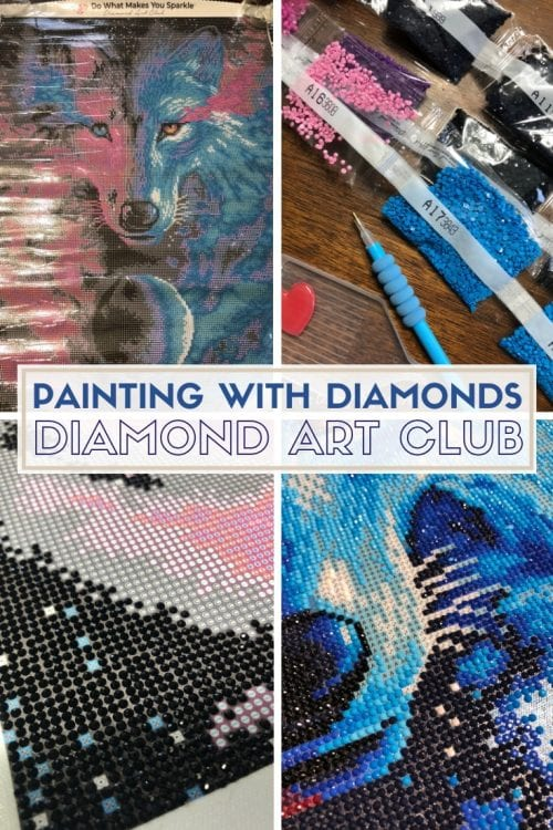 How to Make Diamond Art with Diamond Art Club | Easy DIY Craft Kit Tutorial Idea | relaxing crafts | paint with diamonds | cross stitch | cross stitching | home decor | design | Project
