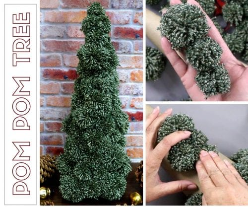 How to Make a Pom Pom Tree for Holiday Decor | Easy DIY Craft Tutorial Idea | Christmas Decorations | Yarn | We R Memory Keepers | Yarn