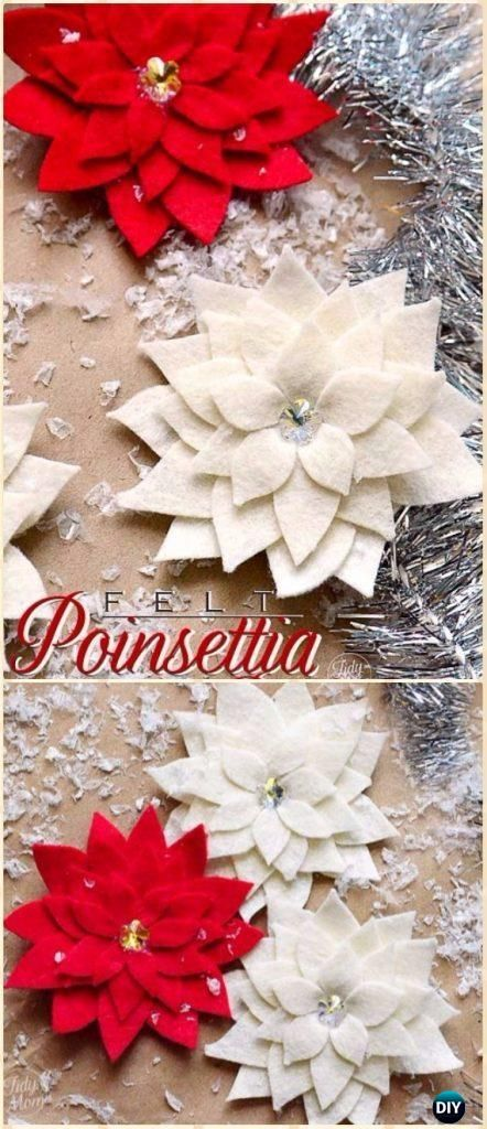 20 Felt Christmas Crafts You Can Make for the Holidays | Easy DIY Craft Tutorial Idea | Holiday Home Decor | Patterns | Templates | Inspiration | Decoration