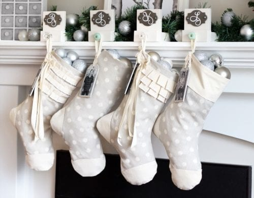 Easy Sew Personalized Christmas Stockings