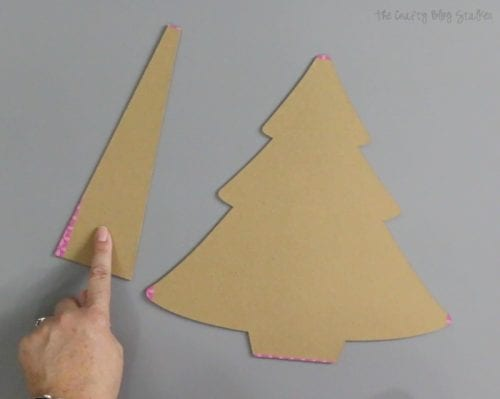 How to Make a Christmas Tree Advent Calendar with Cricut Maker | Easy DIY Craft Tutorial Idea | Holiday Crafts | Handmade | Chipboard | Cricut Knife Blade | Reeces Candy | Countdown | DIY Holiday Gifts | DIY Holiday Decorations | Handmade Holiday Gifts | #ad #cricutmade