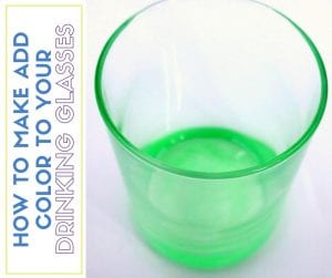 How to Make Colored Drinking Glasses with Glass Paint