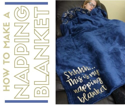 How to Make a Napping Blanket with Iron-on Vinyl and Cricut | Easy DIY Craft Tutorial Idea | Handmade Gift Idea | Fleece | Snuggly | Nap | Personalized | For Women | For Men