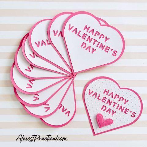 Einfache Cricut Valentinstagskarten