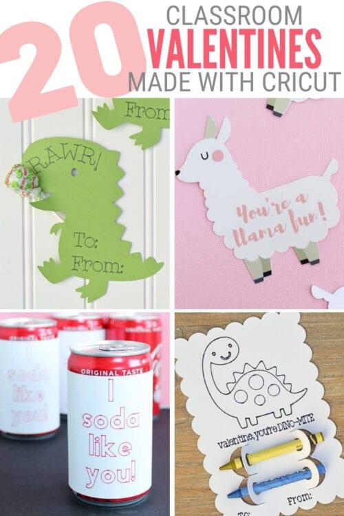 Titelbild für 20 Klassenzimmer-Valentinskarten, die Sie mit Cricut erstellen können