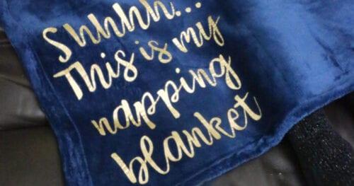 cricut napping blanket 12