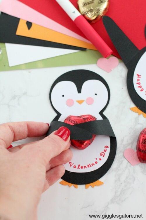 Cricut machte Pinguinkarte