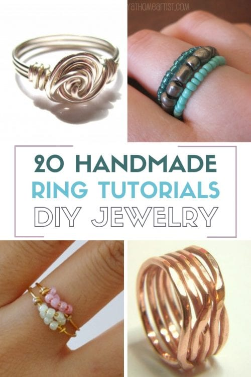 20 Handmade Ring Tutorials: DIY Jewelry | Easy DIY Craft Tutorial Idea | Unique | Wire | Beads | Metal | How to Make