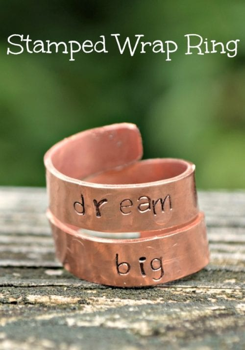 20 Handmade Ring Tutorials: DIY Jewelry Ideas featured by top US craft blog, The Crafty Blog Stalker: Stamped Wrap Ring