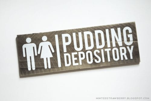 Funny Bathroom Signs Wall Art | Pudding depository