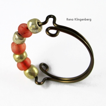 20 Handmade Ring Tutorials: DIY Jewelry Ideas featured by top US craft blog, The Crafty Blog Stalker: See Bead Adjustable Ring