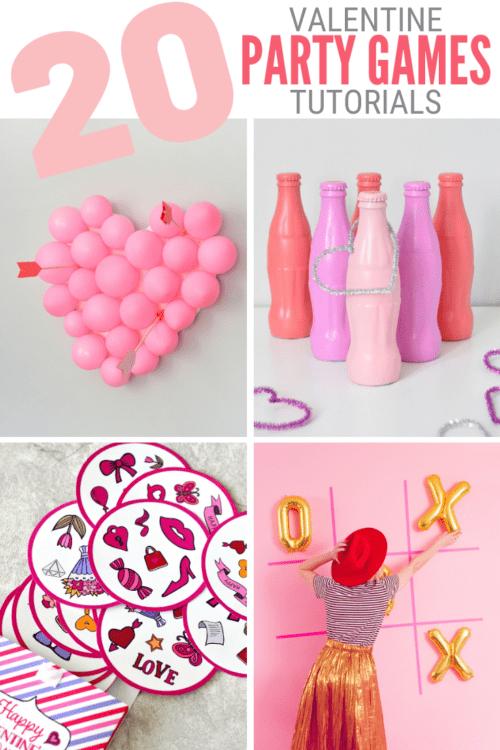 Titelbild für 20 Valentinstag-Partyspiele für Kinder und Erwachsene