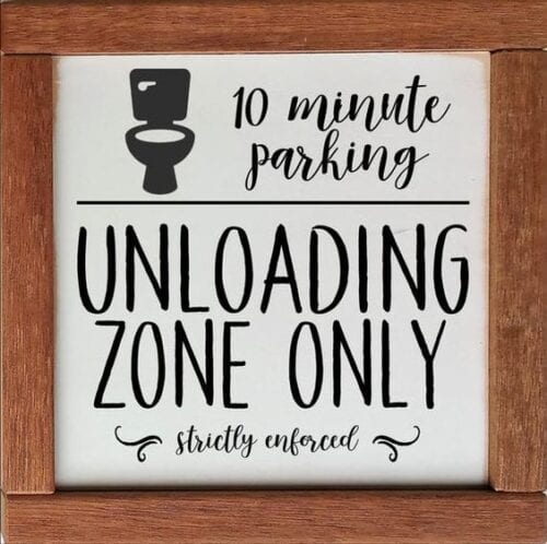 10 minute parking unloading zone only strictly enforced