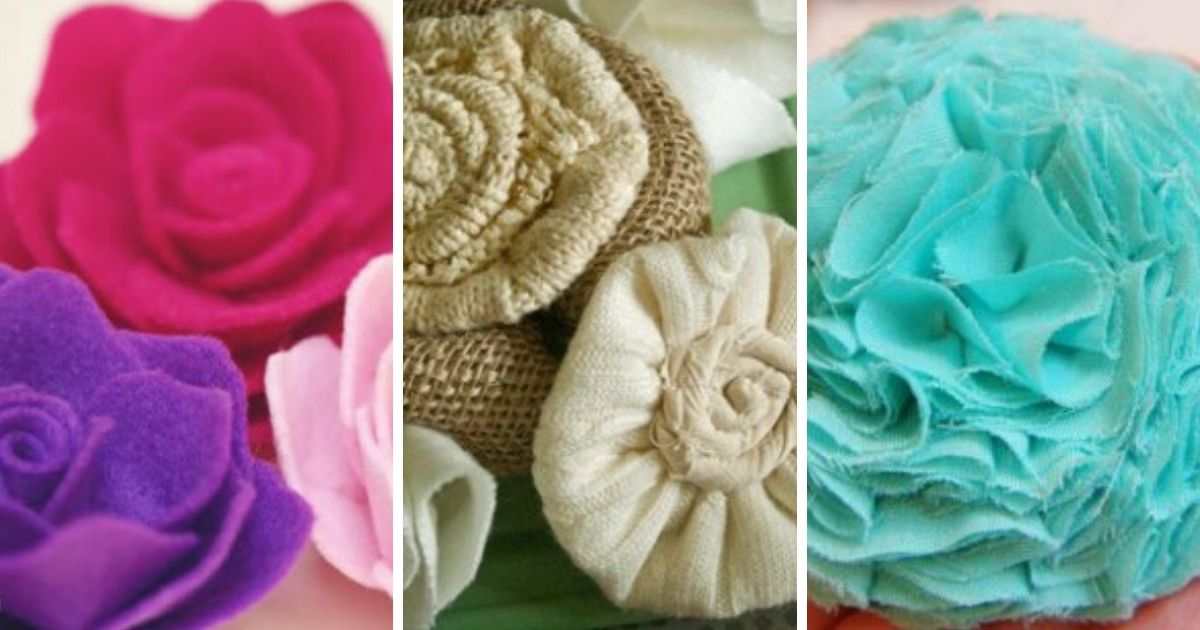 20 Easy Fabric Flower Tutorials The Crafty Blog Stalker