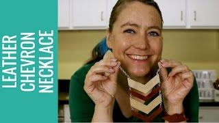 title image for the video how to make a leather chevron necklace