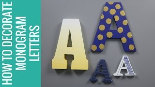 title image for the video how to decorate monogram letters
